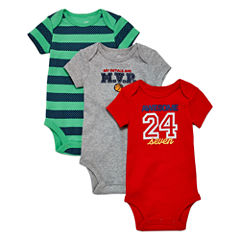 Okie Dokie 3pk Red Bodysuit