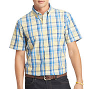 IZOD® Short-Sleeve Seaport Poplin Sport Shirt