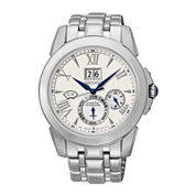 Seiko® Le Grand Sport Mens Silver-Tone Chronograph Watch SNP065