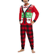 Ugly Sweater Santa Union Suit