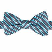 Stafford Wilcox Stripe Pre-Tied Bow Tie