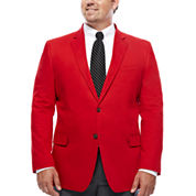 JF J. Ferrar® Cotton Cabaret Red Sport Coat - Big & Tall