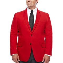 JF J. Ferrar® Cotton Cabaret Red Sport Coat - Big & Tall
