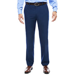 JF J. Ferrar® Blue Stretch Flat-Front Suit Pants - Slim Fit