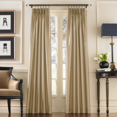 marquee faux silk pinchpleat panel
