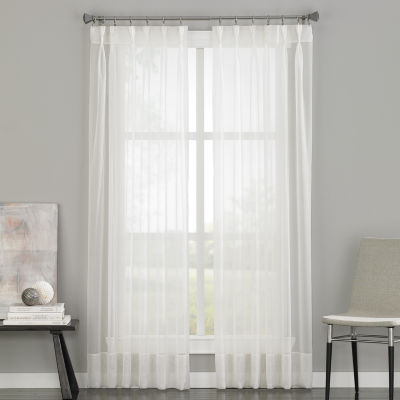 soho pinchpleat backtab sheer curtain panel