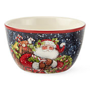Certified International Snowy Santa Set of 4 Ice Cream Bowls