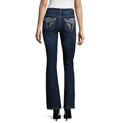 Love Indigo Wing-Back Flap-Pocket Jeans