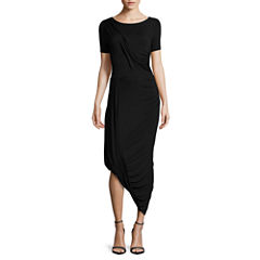 Worthington Short Sleeve Bodycon Dress-Talls