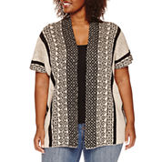 Unity® Short-Sleeve Poncho Pullover Sweater