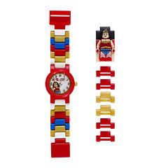 LEGO® DC® Universe Super Heroes Wonder Woman Kids Watch with Mini Figure