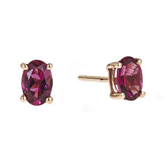 LIMITED QUANTITIES  Oval Genuine Pink Tourmaline Earrings