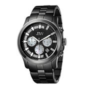 JBW Delano Mens 1/5 CT. T.W. Diamond Black Stainless Steel Watch JB-6218-H