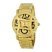 JBW Olympia Womens 1/5 CT. T.W. Diamond Gold-Tone Stainless Steel Bracelet Watch