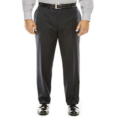Collection by Michael Strahan Black Herringbone Suit Pants - Big & Tall