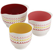 Cake Boss™ Melamine Countertop Accessories 3-pc. Melamine Mixing Bowl Set