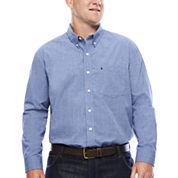 IZOD® Signature Long-Sleeve Cotton Poplin Shirt - Big & Tall