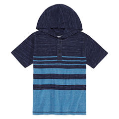 Arizona Short Sleeve Hooded Henley Boys 8-20 & Husky