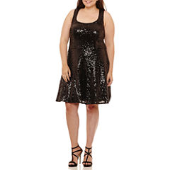 B. Darlin Sleeveless Party Dress-Juniors Plus