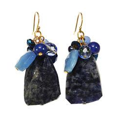 ROX by Alexa Blue Gemstone Cluster Earrings