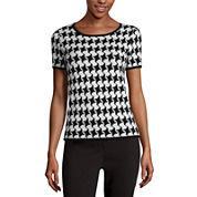 Liz Claiborne® Short-Sleeve Sweater Shell