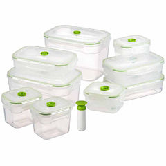 Lasting Freshness 19-piece Vacuum Food Storage Containers, Rectangular