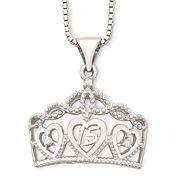 Precious Moments® Quincinera Crown Sterling Silver Pendant Necklace