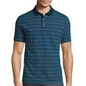 Claiborne® Short-Sleeve Slim-Fit Stripe Polo