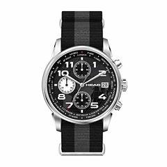 Head Open Mens Two Tone Strap Watch-He-005-01