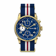 Head Open Mens Two Tone Strap Watch-He-005-03