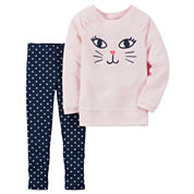 Carter's Girls 2-pc. Long Sleeve Pant Set-Toddler