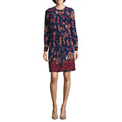 Liz Claiborne® Long-Sleeve Shirt Dress
