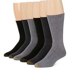 Gold Toe® 6-pk. Harrington Casual Crew Socks - Big & Tall