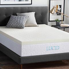 Lucid 3 Inch Memory Foam Mattress Topper
