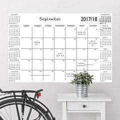 Brewster Wall White Academic Calendar 2017-18 Message Board