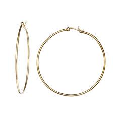 14K Yellow Gold Over Sterling Silver Hoop Earrings