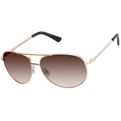 Liz Claiborne Full Frame Aviator UV Protection Sunglasses