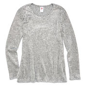 Total Girl Long Sleeve Layered Top - Big Kid