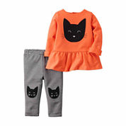 Carter's Girls Long Sleeve Pant Set-Baby