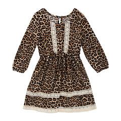 Rare Editions Long Sleeve A-Line Dress - Preschool Girls