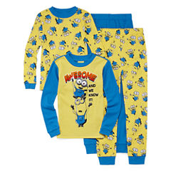 4-pc. Minions Pajama Set- Boys 4-10