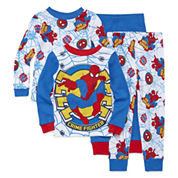 4-pc. Marvel Spiderman Pajama Set- Toddler Boys 2t-4t