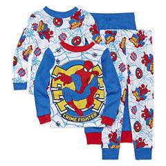 4-pc. Marvel Spiderman Pajama Set- Toddler Boys 2t-4t
