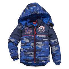Boys Avengers Heavyweight Puffer Jacket-Preschool