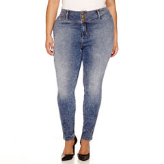 Boutique+ High-Rise Skinny Jeans - Plus