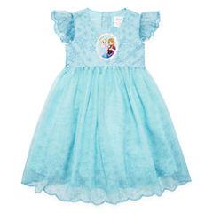 Disney Short Sleeve Frozen A-Line Dress - Toddler Girls