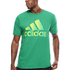 adidas® Short-Sleeve Logo Chop Cotton Tee