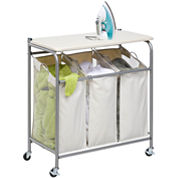 Honey-Can-Do® Sort and Iron Triple Laundry Center