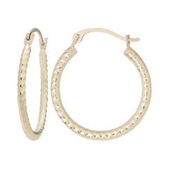 10K Gold Rope Hoop Earrings