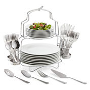 Cooks 53-pc. Porcelain Dinnerware Catering Buffet Set